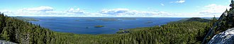 Pielinen - Lake Pielinen, a view from a hill in Koli National Park