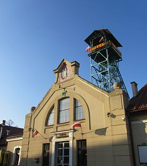 Bochnia Salt Mine - Entrance with Sutoris headframe