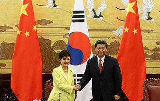 Park Geun-hye - Park Geun-hye and Chinese President Xi Jinping, Beijing, 27 June 2013