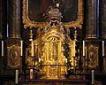 Kornelimünster, abbazia di san cornelio, interno, altare barocco 03.jpg