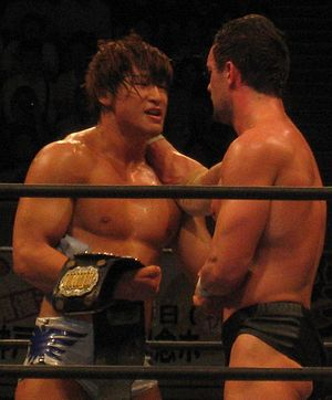 Kota Ibushi - Ibushi in June 2011 after defeating Prince Devitt to win the IWGP Junior Heavyweight Championship.