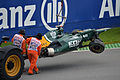 Kovalainen's Crashed Caterham - 2012 Canadian Grand Prix.jpg