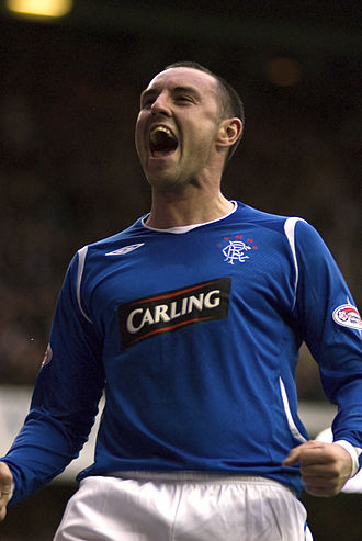Kris Boyd - Boyd playing for Rangers in 2008