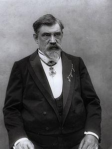 František Křižík na fotografii Josefa Jindřicha Šechtla
