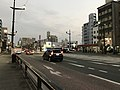 Kumamoto Prefectural Road No.28 on south side of Shin-Suizenji Station.jpg