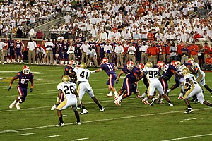 Kyle Parker - Image: Kyle Parker handing the ball off