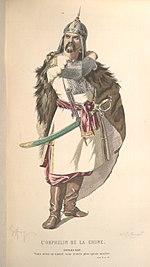 Κοστούμι από τη θεατρική παράσταση για το έργο του ΒολταίρουL'Orphelin de la Chine(Πηγή: M. Geffroy, Theatre Complet de Voltaire, Laplace, Sanchez, 1874, Παρίσι)
