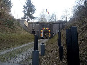 Henri Alexis Brialmont - The entrance to the Fort d'Embourg, near Liège, which was designed by Brialmont and built between 1881 and 1884