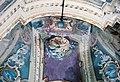 La Cappelletta, 1983, prima dei restauri, un dettaglio della volta e dei colori su un lato.jpg