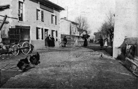 A view of La Chapelle de Surieu, in 1909