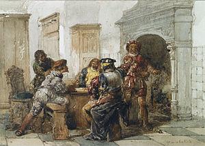 Herman Frederik Carel ten Kate (artist) - Image: La Dispute by Herman Frederik Carel ten Kate (1822 1891) copy