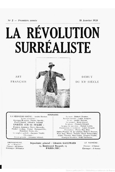 La Révolution surréaliste, n02, 1925
