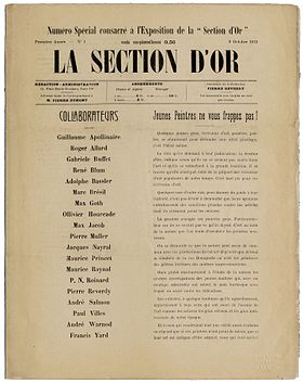 La Section d'Or, numero special, 9 Octobre 1912.jpg