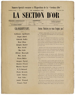 Section d'Or - La Section d'Or, Numéro spécial, 9 Octobre 1912