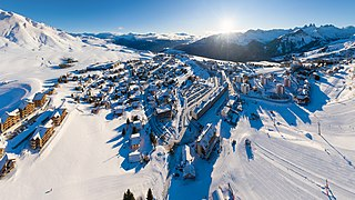 Les Sybelles ski area in France