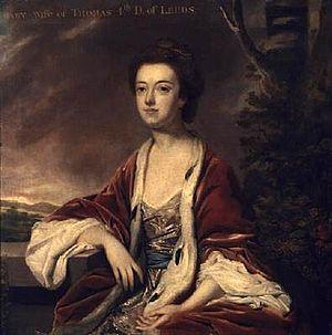 Mary Osborne, Duchess of Leeds - The Duchess of Leeds painted by Sir Joshua Reynolds, 1760