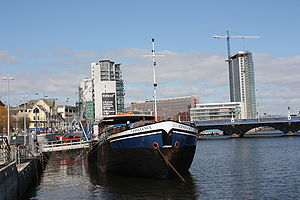 River Lagan - River Lagan at Lanyon Place, Belfast