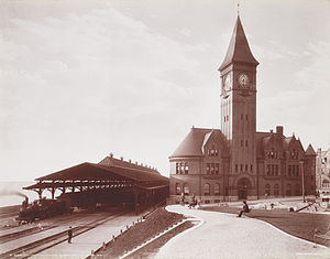 Milwaukee - Milwaukee's Lake Front Depot in 1898