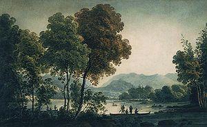 George Heriot (artist) - Lake St. Charles near Quebec  - George Heriot (ca. 1796 - 1806)