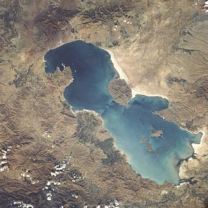 Lake Urmia - Lake Urmia from space in 1984