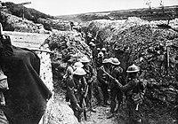 Lancashire Fusiliers trench Beaumont Hamel 1916.jpg