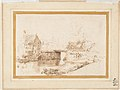 Landscape with a Draughtsman Seated by a River, a Bridge and a Cottage Behind MET DP122670.jpg
