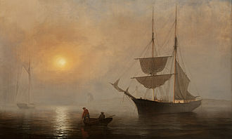 Fitz Henry Lane - Ship in Fog, Gloucester Harbor, ca. 1860, Princeton University Art Museum