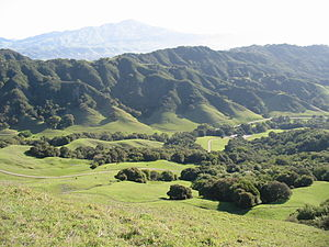 Las Trampas Regional Wilderness - Image: Las Trampas view from Rocky Ridge