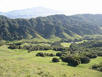 Las Trampas Regional Wilderness - Image: Las Trampas view from Rocky Ridge
