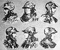 """Las Glorias Nacionales, 1852 """"Nº I de Reyes de España. 1. Ataulfo 2. Sigerico 3. Walia 4. Teodoredo 5. Turismundo 6. Teodorico"""". (4013181893).jpg"""