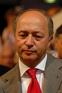 Laurent Fabius during Ségolène Royal and José ...