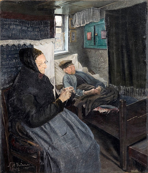 Laurits Andersen Ring - The sick man - Google Art Project