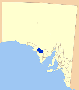 Wudinna District Council - Location of the Wudinna District Council  (formerly Le Hunte)