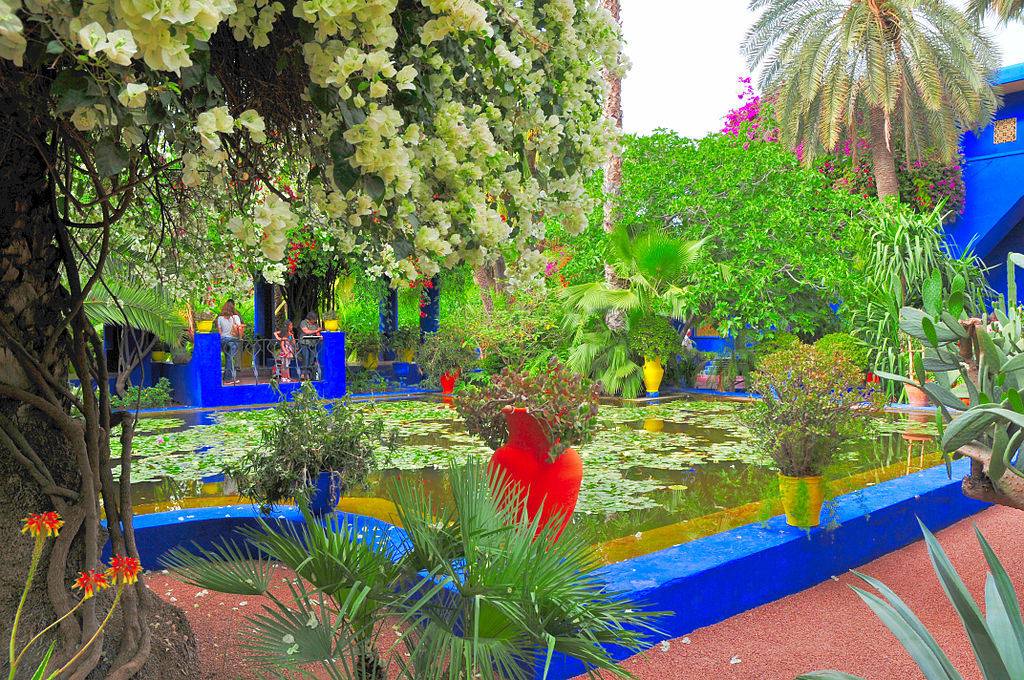 El jardin majorelle de marrackech for Jardin marrakech