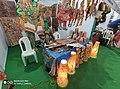 Leather puppet gallery at handloom show Vijayawada oct 2019 3.jpg