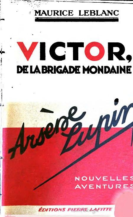 Leblanc - Victor de la brigade mondaine, 1934 (couverture).jpg