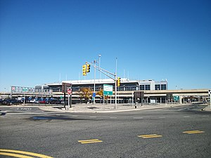 Lefferts Blvd JFK-AirTrain Station; Looking Northwest.JPG