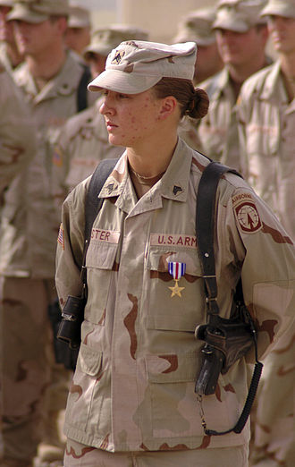 United States Armed Forces - Sergeant Leigh Ann Hester, awarded the Silver Star for direct combat
