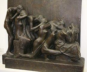 Les Pleureuses étude pour le monument aux morts du cimetère du Père Lachaise à Paris