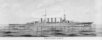 Lexington-class battlecruiser - A painting of the Lexington class' original planned configuration
