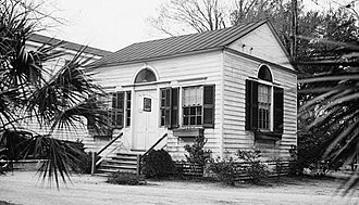Walterboro Library in 1934 Library, Wichman Street & North Miller (moved from Fishburn, Walterboro (Colleton County, South Carolina).jpg