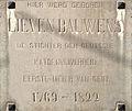 Lieven Bauwens gedenkplaat Waaistraat 1 Gent.JPG