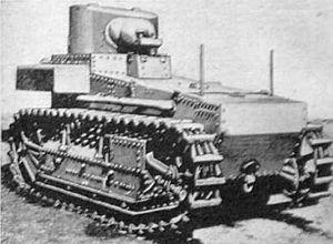 T1 Light Tank - A T1E1 light tank