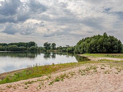 Excavation lake at the Main near Limbach