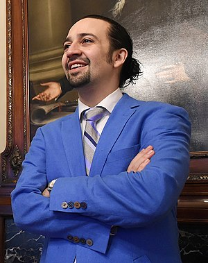 Lin-Manuel Miranda - Miranda in Treasury Secretary Jack Lew's Office, March 2016