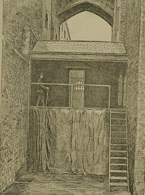 Book illustration of prison life