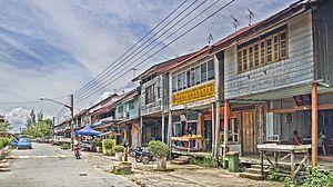 Lingga, Malaysia - Image: Lingga Shops
