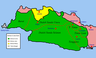 Peta linguistik Jawa Barat