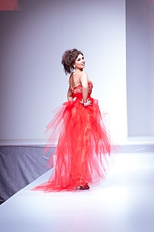 Lisa Ray wearing Farley Chatto - Heart and Stroke Foundation - The Heart Truth celebrity fashion show - Red Dress - Red Gown - Thursday February 8, 2012 - Creative Commons.jpg