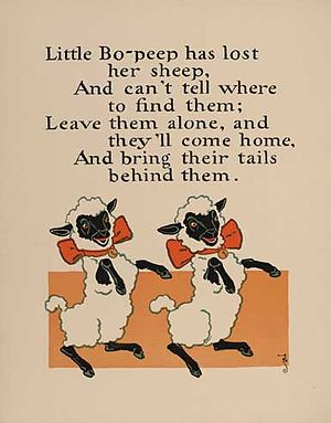 Little Bo Peep - William Wallace Denslow's illustrations for the rhyme, 1902